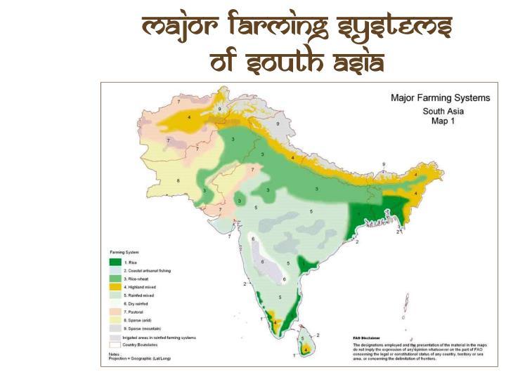 Major Farming Systems