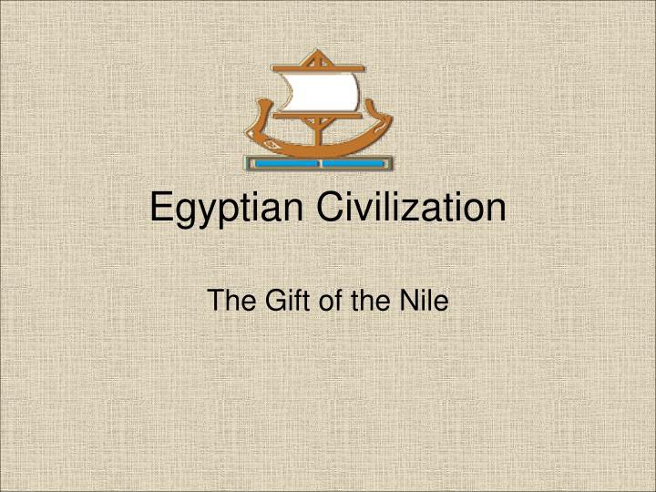egyptian civilization n.