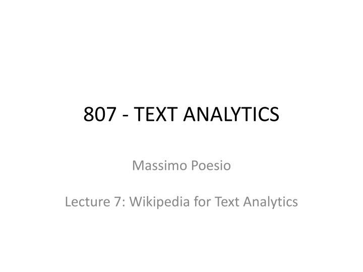 807 text analytics n.