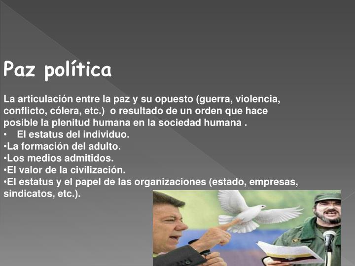 Paz política