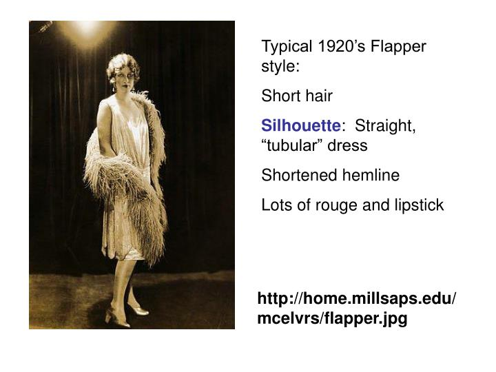 Typical 1920's Flapper style: