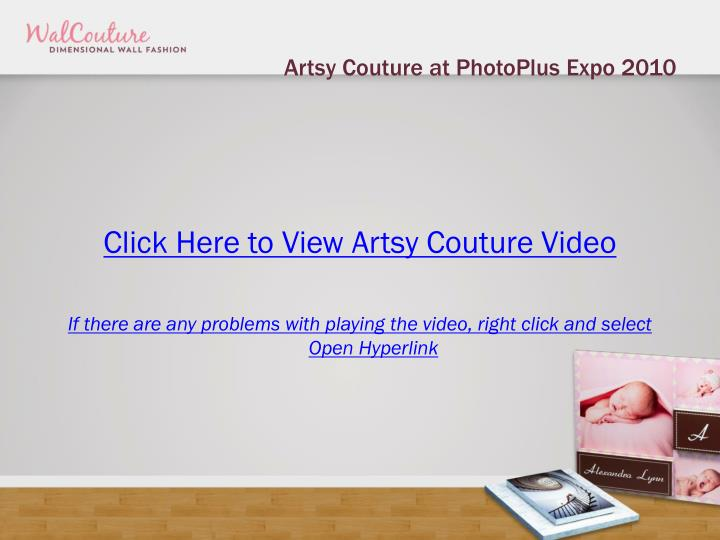 Artsy couture at photoplus expo 2010
