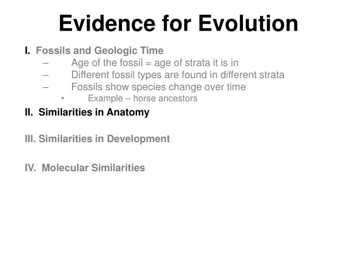 Ppt Evidence For Evolution Powerpoint Presentation Id3277174