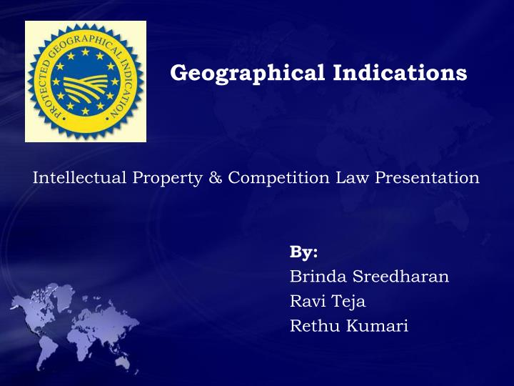 geographical indications n.