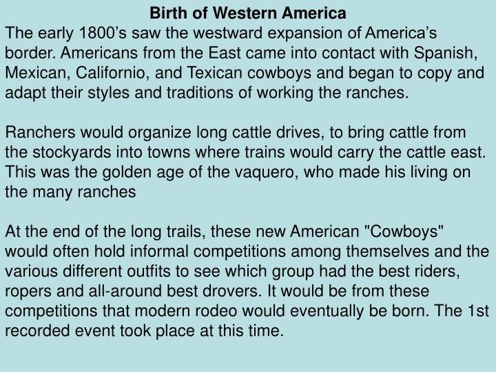 Birth of Western America
