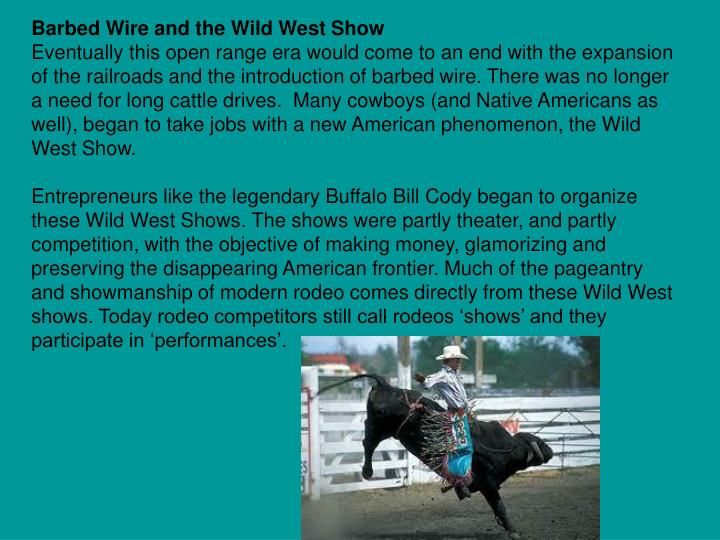 Barbed Wire and the Wild West Show