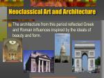 neoclassical art and architecture