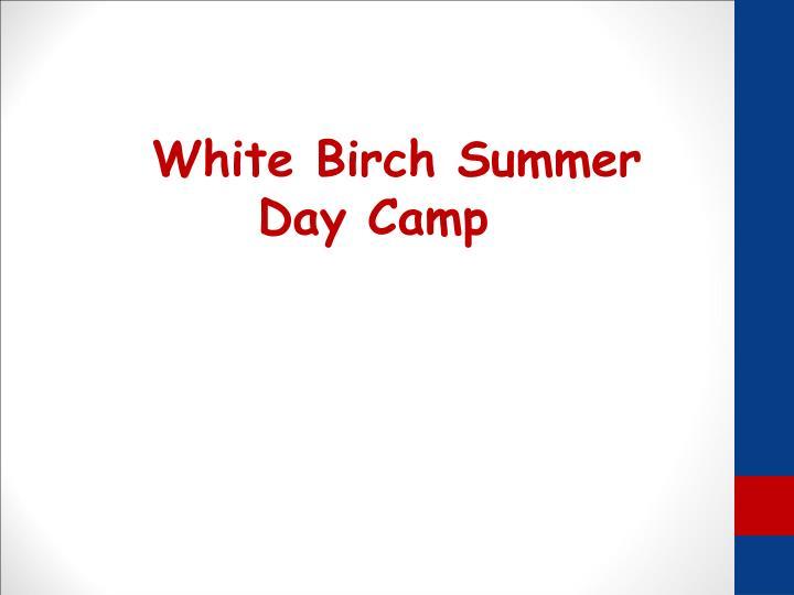 White Birch Summer Day Camp