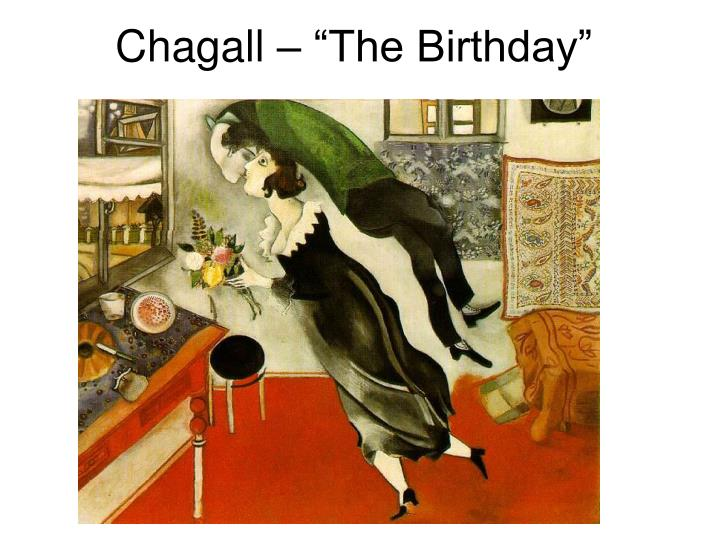 "Chagall – ""The Birthday"""