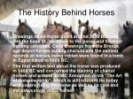 the history behind horses