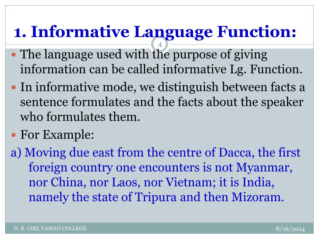 PPT - Basic Functions of Language PowerPoint Presentation