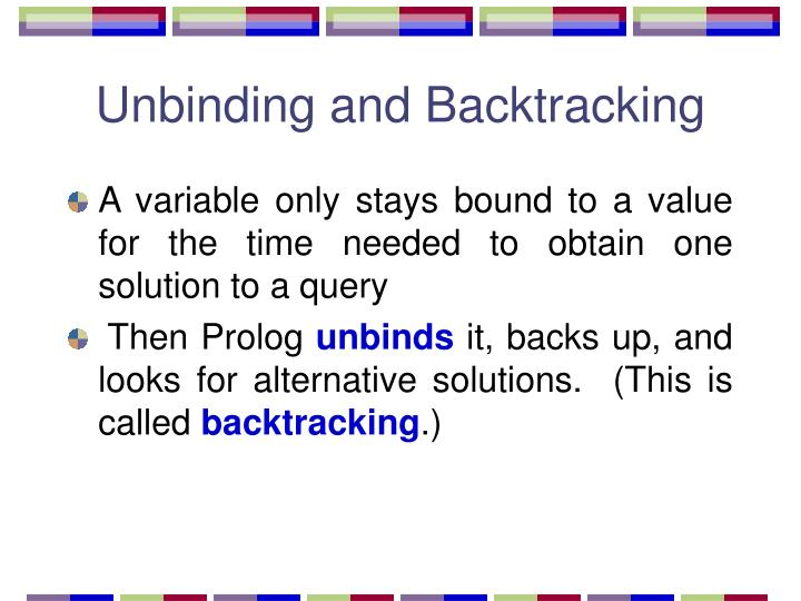 Unbinding and Backtracking