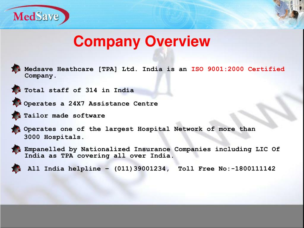 Ppt Med Save Health Care Tpa Ltd Powerpoint Presentation Free