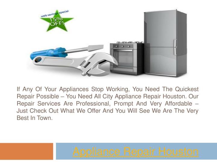 appliance repair houston n.