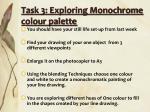 task 3 exploring monochrome colour palette