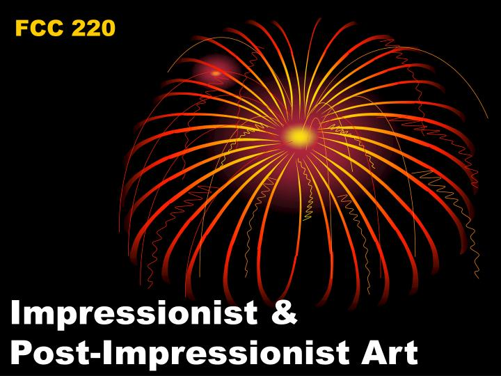 impressionist post impressionist art n.