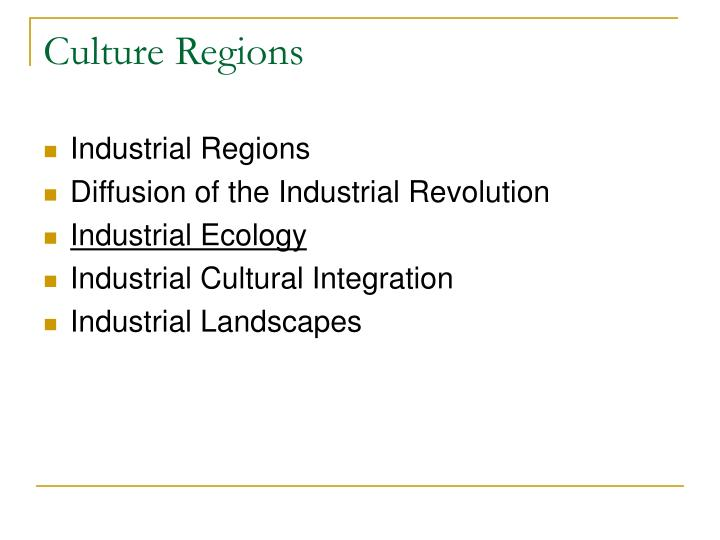 culture regions n.