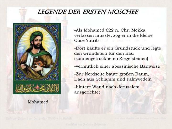 Legende der ersten Moschee