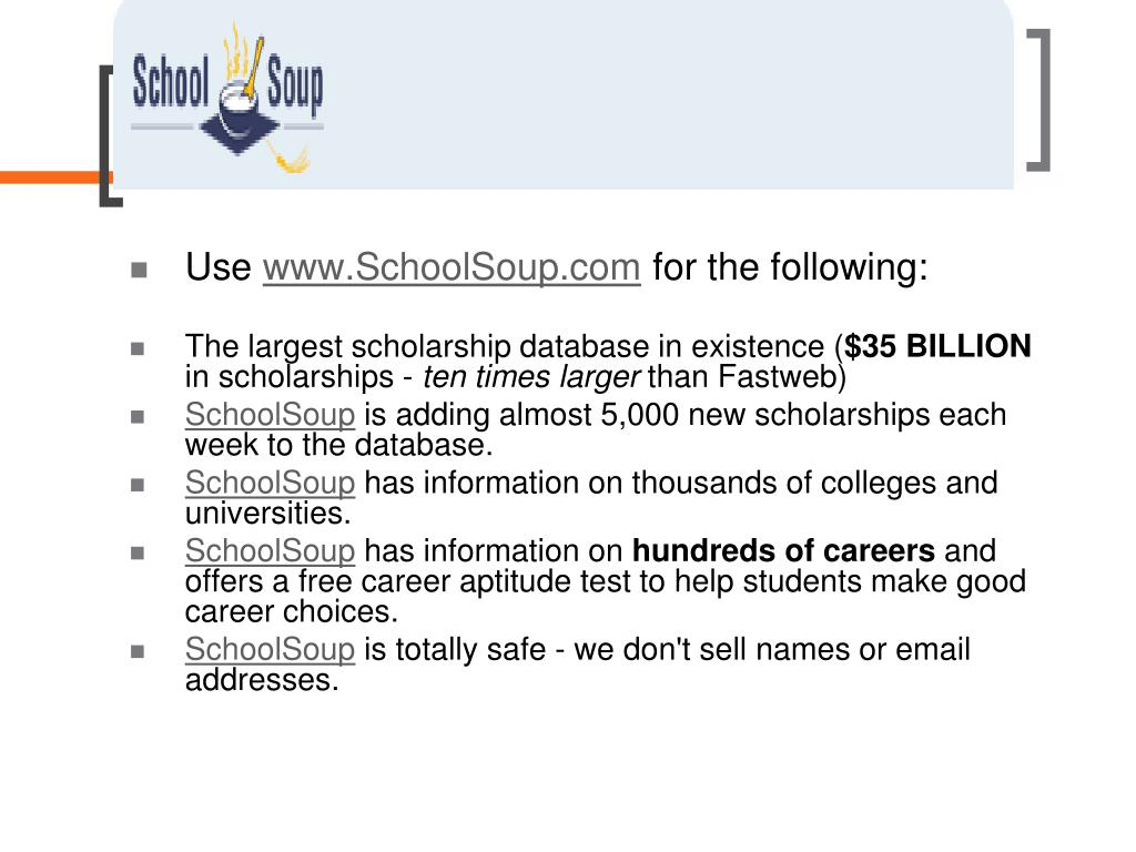PPT - Scholarships and Financial Aid DHSHS PowerPoint Presentation