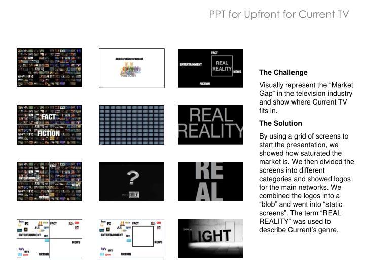 PPT for Upfront for Current TV