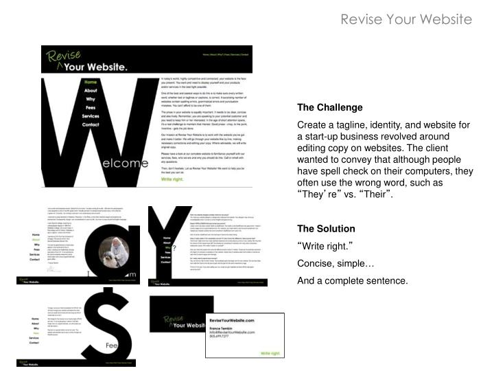 Revise Your Website