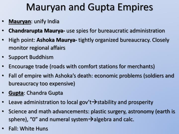 Mauryan and Gupta Empires