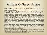 william mcgregor paxton