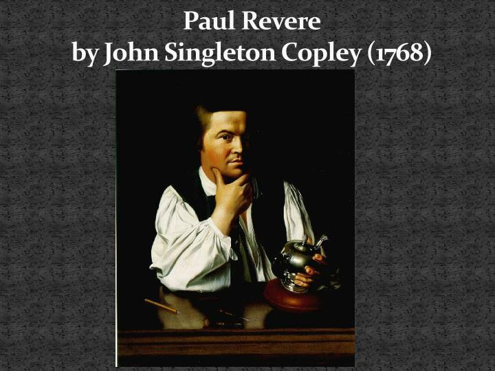 Paul revere by john singleton copley 1768