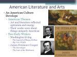 american literature and arts