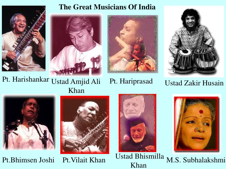 The Great Musicians Of India