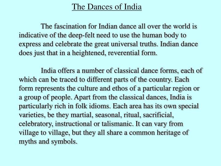 The Dances of India