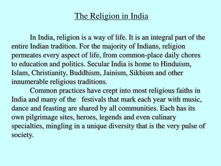 The Religion in India