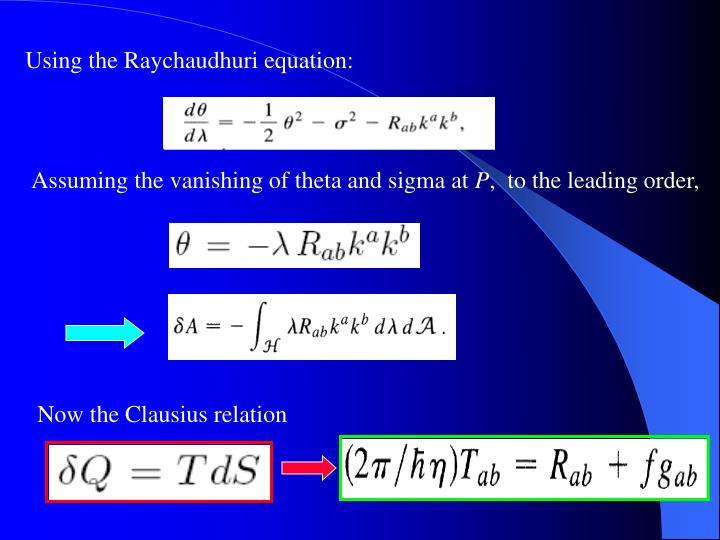 Using the Raychaudhuri equation: