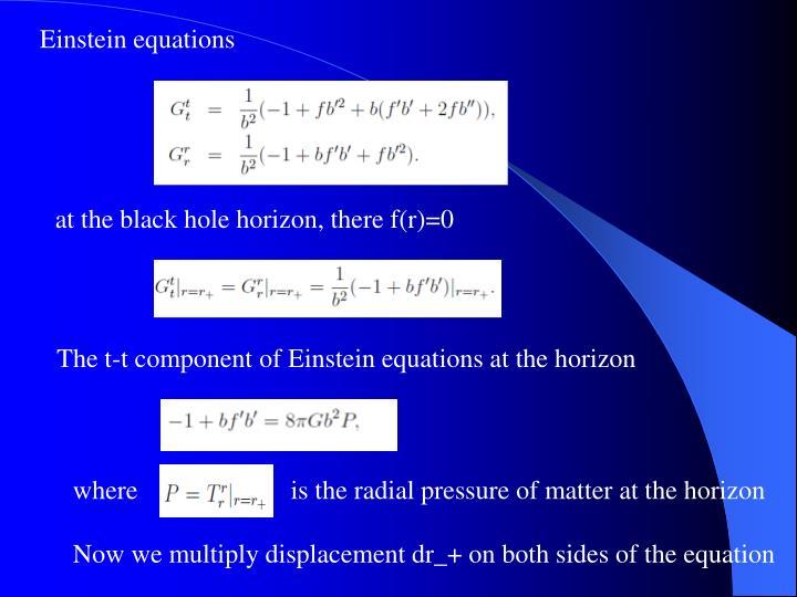 Einstein equations