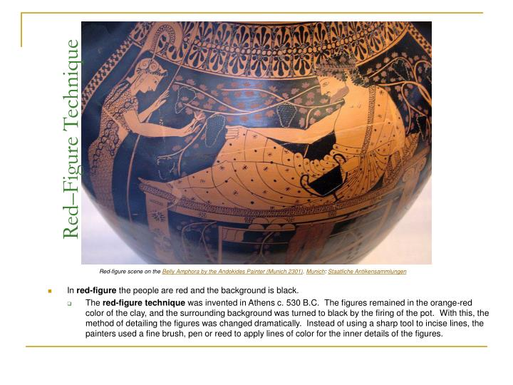 an analysis of greek vase painting and the black figure technique This type of decoration puts the vase into the so two-handled jar (amphora) with achilles and ajax greek medium or technique ceramic, black figure and.