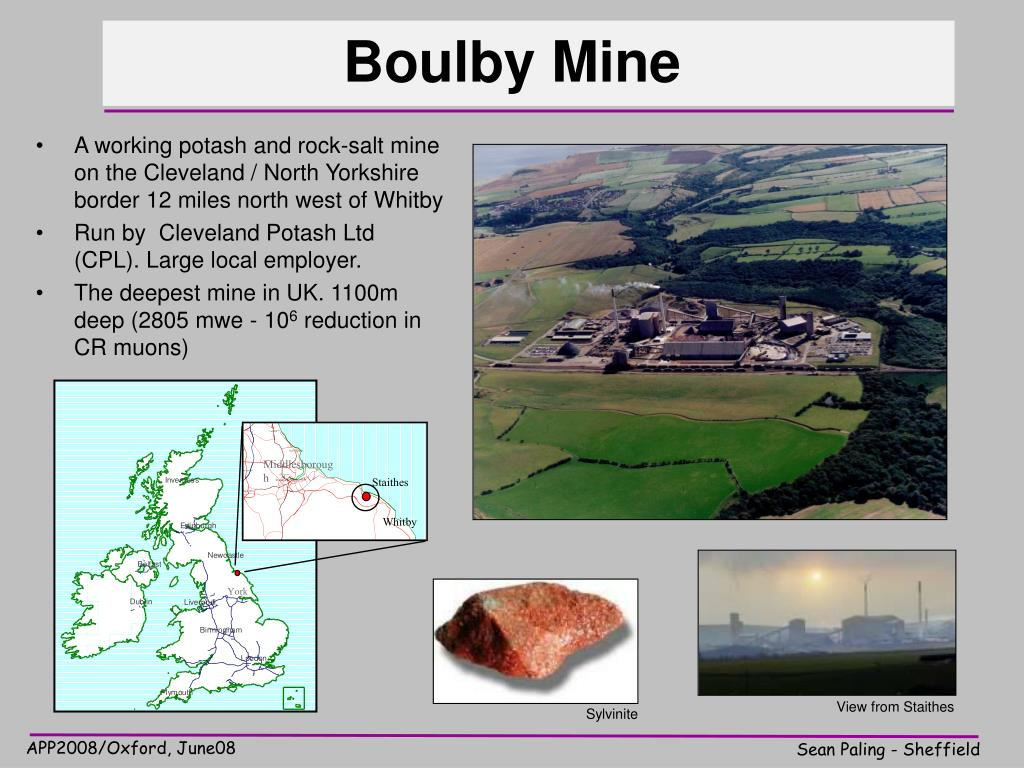 PPT - Underground Science @ Boulby Mine – Status & Plans PowerPoint