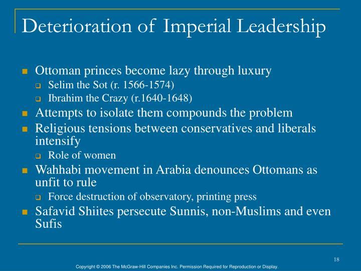 Deterioration of Imperial Leadership