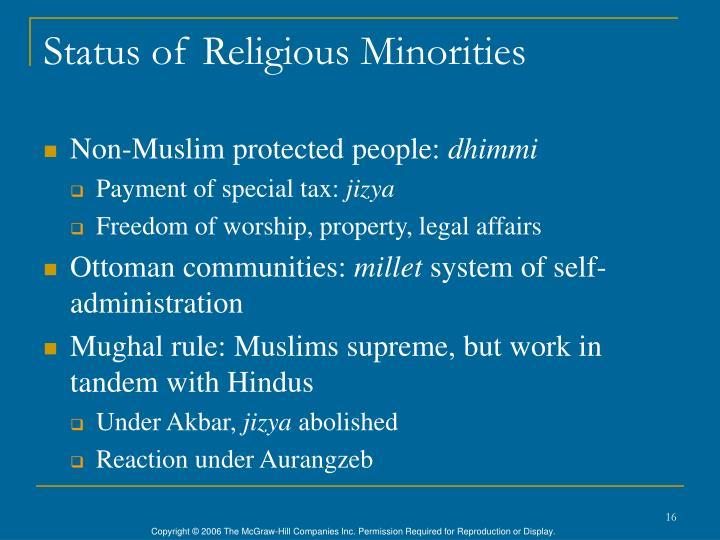Status of Religious Minorities