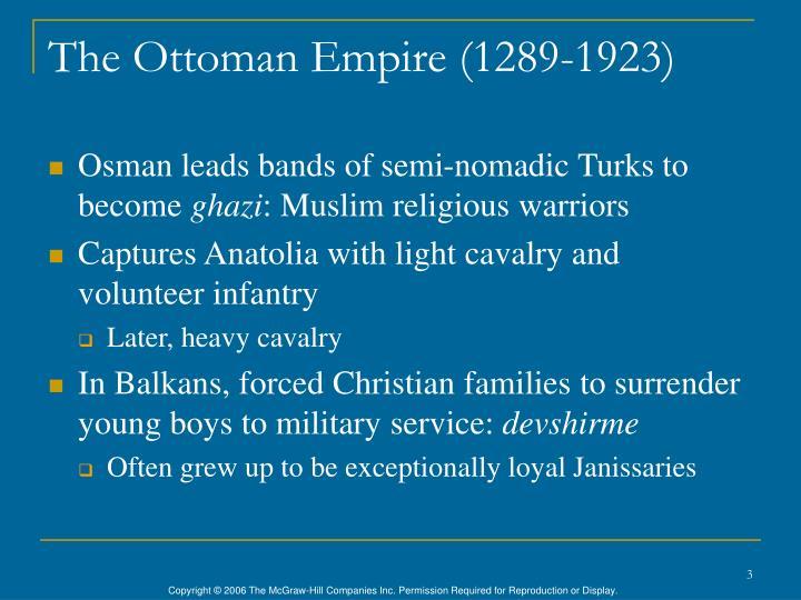 The ottoman empire 1289 1923