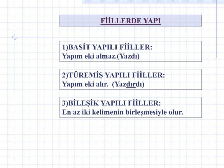 FİİLLERDE