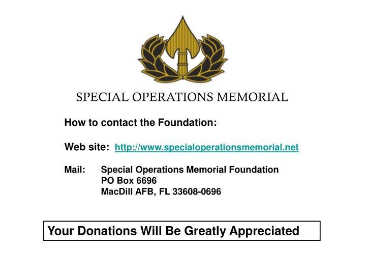 SPECIAL OPERATIONS MEMORIAL