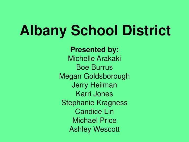 albany school district