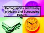 demographics and history of albany and surrounding districts