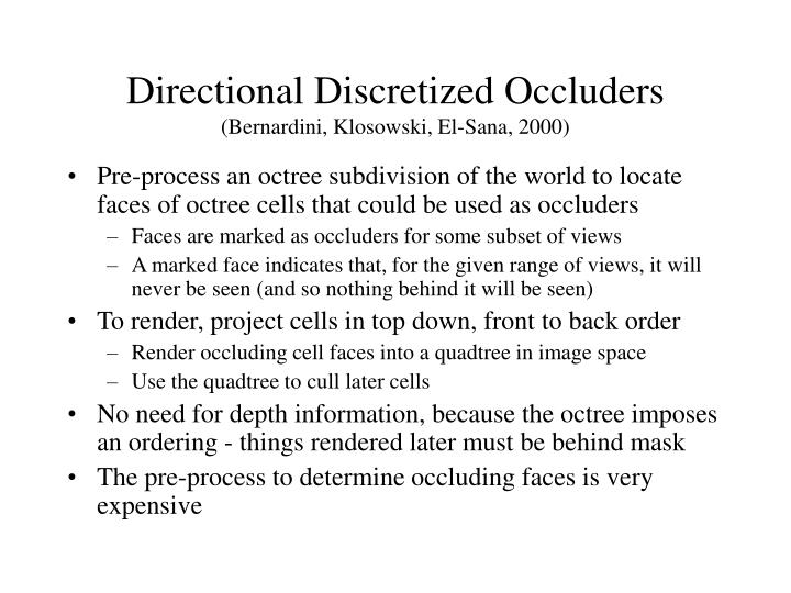 Directional Discretized Occluders