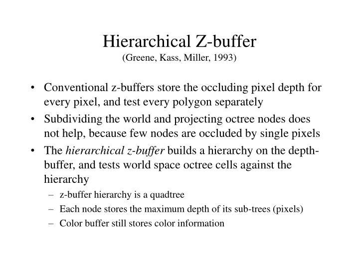 Hierarchical z buffer greene kass miller 1993