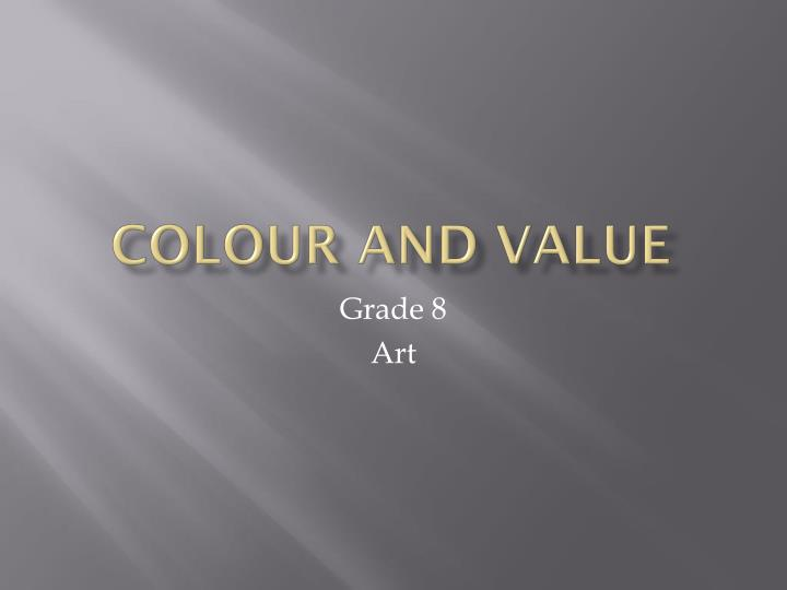 colour and value n.