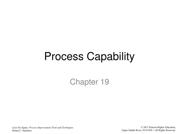 process capability n.
