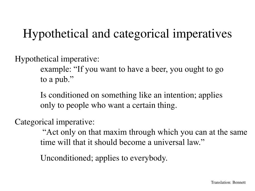 Imperative Definition Philosophy