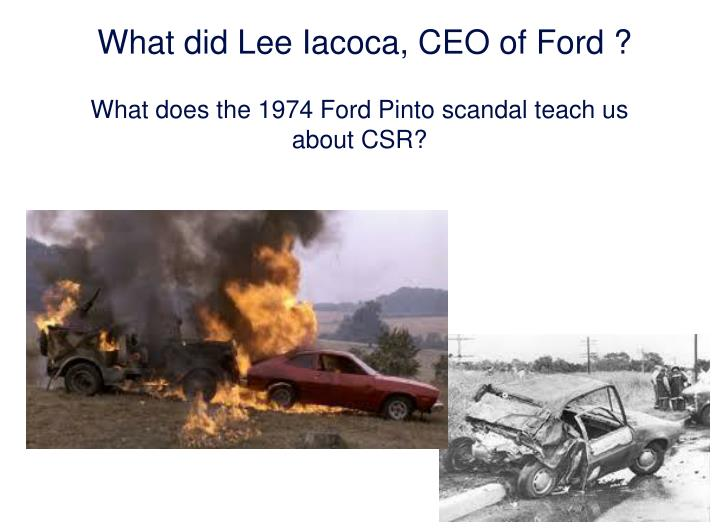 What did Lee Iacoca, CEO of Ford ?