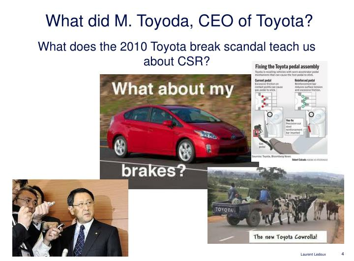 What did M. Toyoda, CEO of Toyota?